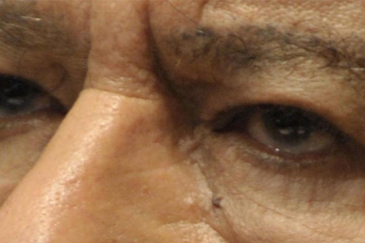 Close up of Muammar Gaddafi