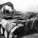 Red Army soldiers inspect a destroyed Panther on the Eastern Front, 1943. Watch video of the