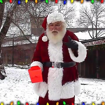 Santa Visits Reindeer Cam