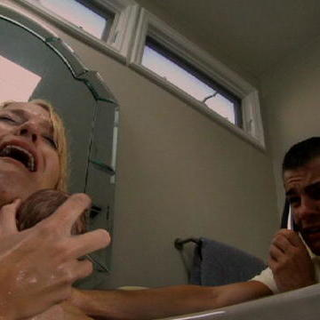 Baby Born in the Bath Tub