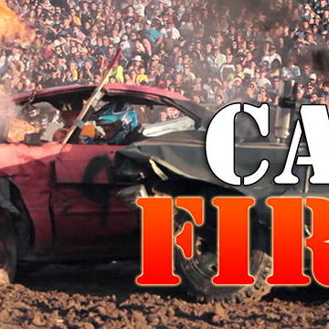 Crash 360: Car on FIRE?!