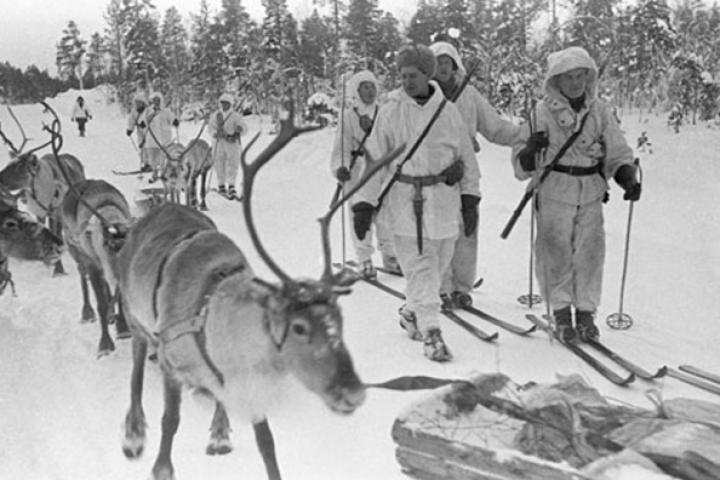 Not a scene from a Christmas story but from the Winter War between The Soviet Union and Finland, 1940.