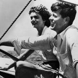 A young John and Jackie enjoy a day on the water.