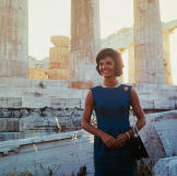 Jackie tours the Acropolis during a visit to Greece.