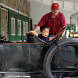 Since Will love cars, he got a chance to check out this antique.