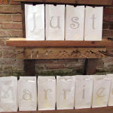 Just Married gift bags.