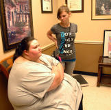 "Christina is 22 years old and weighs 673 pounds. ""I never thought"