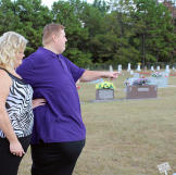 James visits the cemetery where his father and sister are buried. Losing them was devastating for James and his mother. He can't bear the thought of dying and leaving his mother completely alone.