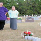 A few months after surgery, James had fallen into a few old unhealthy habits. Seeing his father and sister's graves was a reminder that he has many reasons to live.