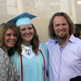 """Here, the """"Sister Wives"""" mom is pictured at her daughter Mar"""