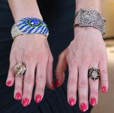 Starburst Gem Ring by Lulu Frost, Crystal Ring by Swarovski, Silver Ge