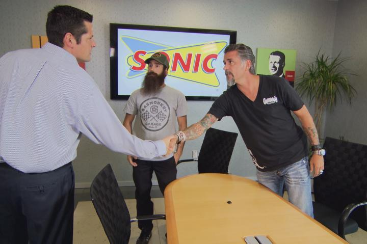 Richard and Aaron at Sonic HQ