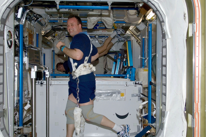 Astronauts lose bone density over long missions.
