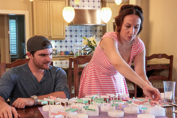 """This is Liam. He's tried to pitch in (no pun intended) when Kristi asks for help, but even tasks like planning the seating chart can go awry when your bride is a self-described """"control freak."""""""
