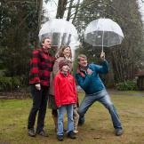 Ryan Hadlock, wife Maya Hadlock, their son Kai and daughter Tessa, see
