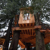 Exterior of the Bear Creek Recording Studio treehouse
