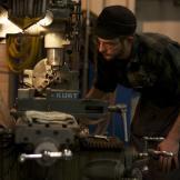 Wild West Guns' head gunsmith Bryan at work.