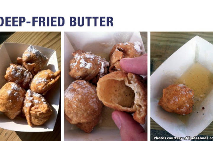 It may seem like a strange concept at first. But we all know that butter is good on pretty much everything, right? So go ahead. Try this at home. Just wear something you don't mind butter dripping all over because an overzealous bite will send it squirting everywhere.