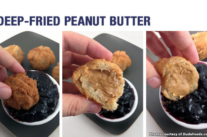 Fried peanut butter, you ask? Would that even be good, you wonder? Yes. Yes, it is.