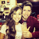 Jessa is beyond thrilled to show off her sparkly engagement ring from Ben.