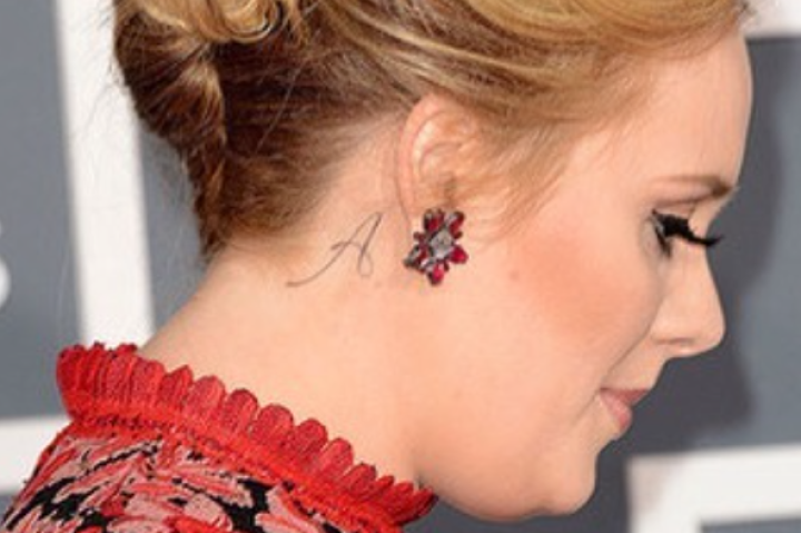Adele's tattoo behind her ear is for her son, Angelo