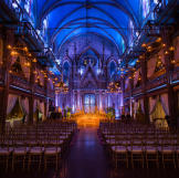 Andrea and Patrick's wedding took place at the Angel Orensanz Foundati