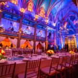 The venue is a renovated synagogue in New York. The space can act as b