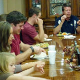Ben joins the Duggar family for a meal.