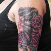 After: Tattoo artist Lisa Del Toro gave Amanda a fresh tattoo to cover