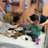 Although Jen is getting chemo, she stays strong for the kids and does