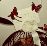 Bianca's butterfly theme showed throughout the wedding ceremony and re