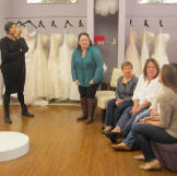 Step into Curvaceous Couture, the bridal salon operated by sisters Yuk