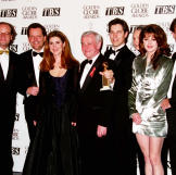 """Kelsey poses with his castmates from """"Frasier,"""" including Pe"""