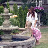 Daya and Cassidy tour the pretty grounds of a prospective wedding venu