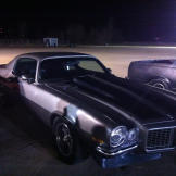 This classic waits for its turn on race night in Oklahoma.