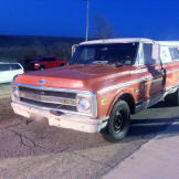 Don't be fooled by the looks of Sean Whitley's (a.k.a. Farmtruck) 1970 Chevy long bed truck.