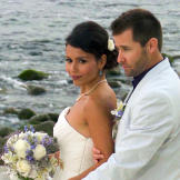 This couple is so in love -- you can tell just by looking at them!