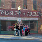 """""""Standin' on the corner in Winslow, Arizona"""" with the """""""