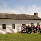 The visit also included a tour of the Nathan Boone Historic house.