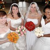 Meet the brides: Rachel, Hannah, Janitza, and Tinisha.