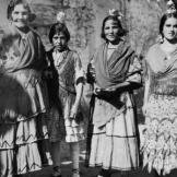 These are Gitano women, gypsies from southern Spain, photographed arou