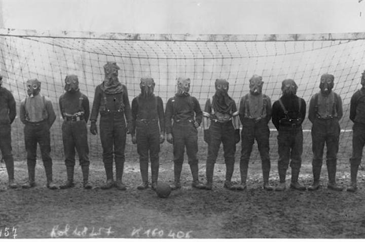"""Ladies and gentlemen, presenting the 1916 All-Flatulence League Soccer Champions!"" - Tim K."