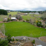 View of the soccer field and the grounds.