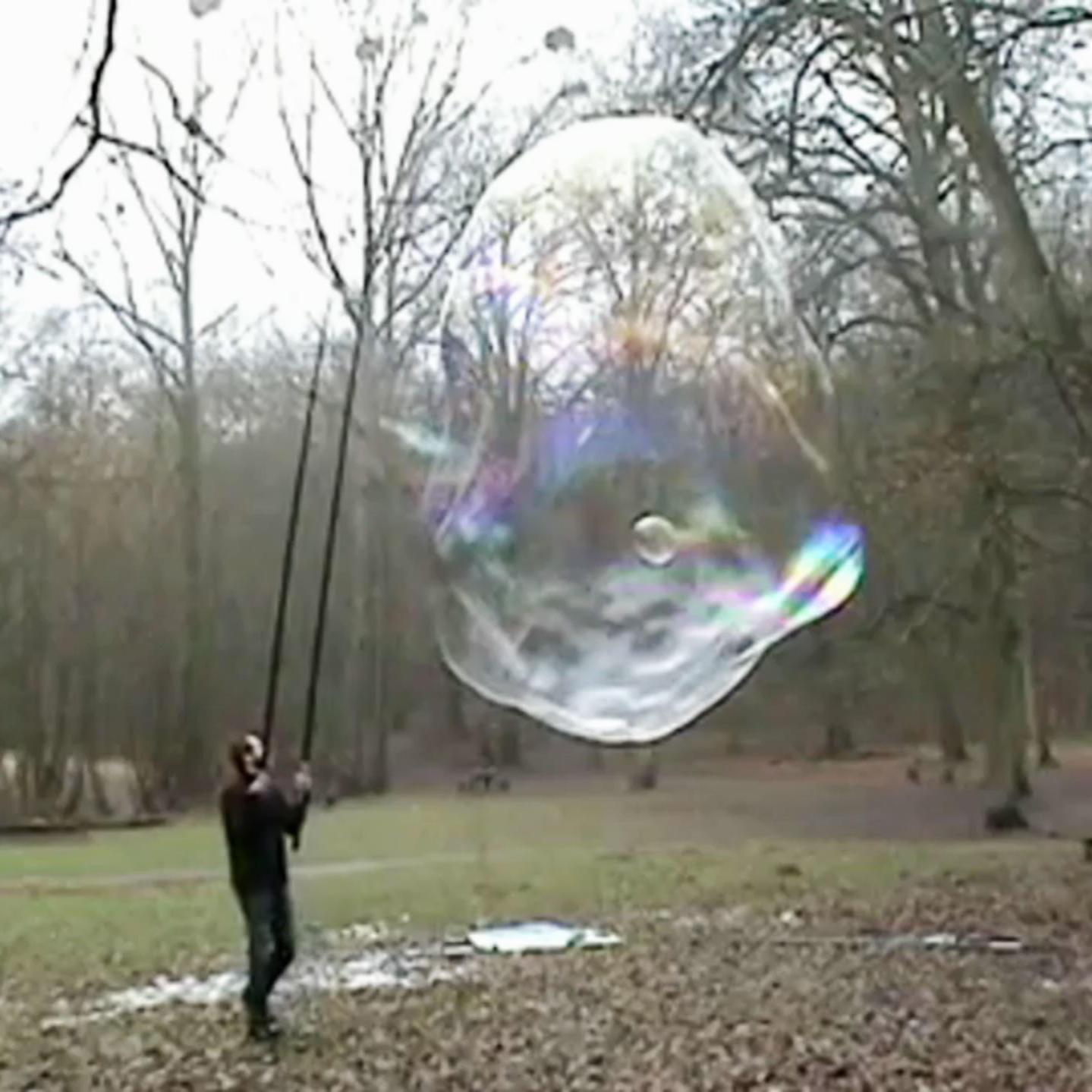 How Chemistry Creates Really Big Bubbles