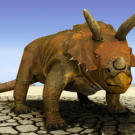 Known for its spectacular curved neck frill and long, pointed horns, Triceratops lived in North America and was one of the last dinosaurs to appear before the mass extinction. See a similar dino on the next page.