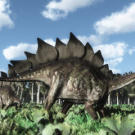 With huge plates of bone lining its back and pointed spines on its tail, Stegosaurus was definitely one of the more unique-looking dinosaurs of the Late Jurassic period. See a close relative of Stegosaurus on the next page.