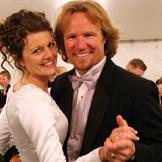 Robyn and Kody on their wedding day.