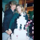 Kody and his bride had an unconventional wedding but did participate in the age-old cake-cutting tradition.