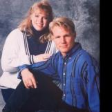 Janelle and Kody strike a pose in their younger days.
