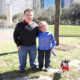 Bill and Jen take their pooch, Rocky, out for a walk in a city park.  The little couple knows the importance of staying active and Rocky isn't happy unless he gets out for his daily walk!